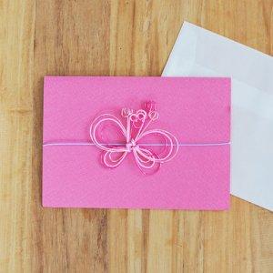 OTUTUMI・グリーティングカード -cyocyo- Pink