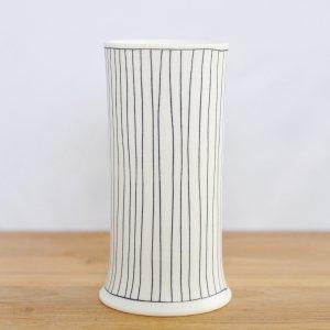 勝村 顕飛 /  黒線紋 花器(15cm)