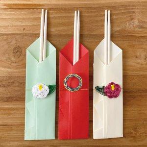 OTUTUMI・祝箸(紅椿・白椿・輪)