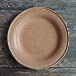 青木 浩二 / プレート(rim) 19.5cm  / 灰赤紫