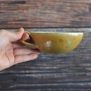 ヤガミサヨ / スープカップ (麦わら色釉)