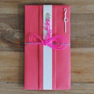 OTUTUMI・ご祝儀袋 / - Ribbon -(Red x Pink)