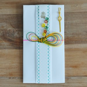OTUTUMI・ご祝儀袋 / - Ribbon -(White x Colors)