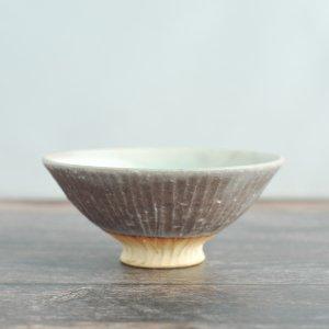 蓮尾寧子 / 粉灰  めし碗