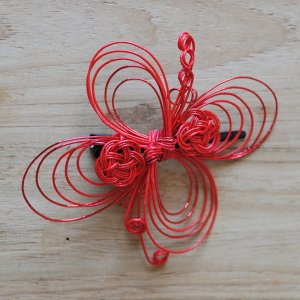 OTUTUMI・髪飾り 花(赤)