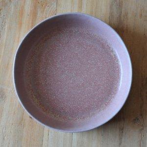 青木 浩二 / 平盛鉢(15cm)灰赤紫