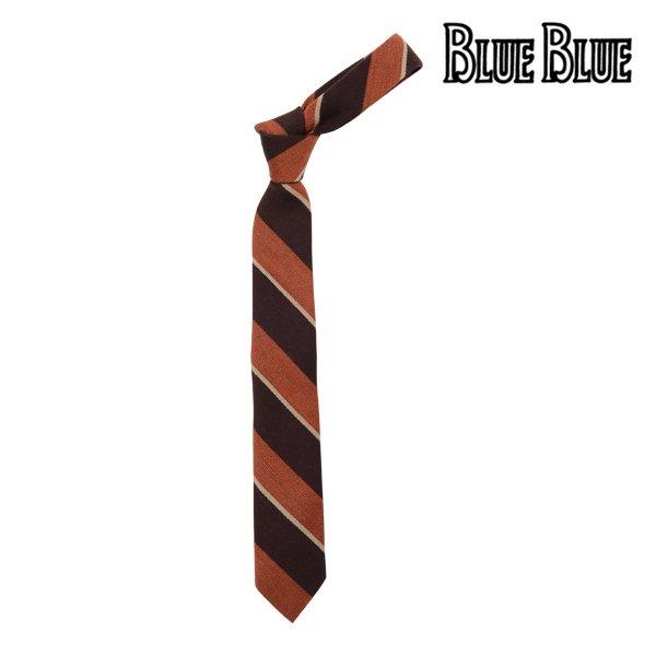 【FRUIT OF THE LOOM×BLUE BLUE】Silk Wool Regimental Tie  (フルーツオブザルーム×ブルーブルー シルク ウール レジメンタル タ…