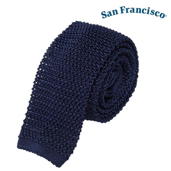 【San Francisco】Solid Silk Knit Tie (サンフランシスコ ソリッド シルク ニット タイ)