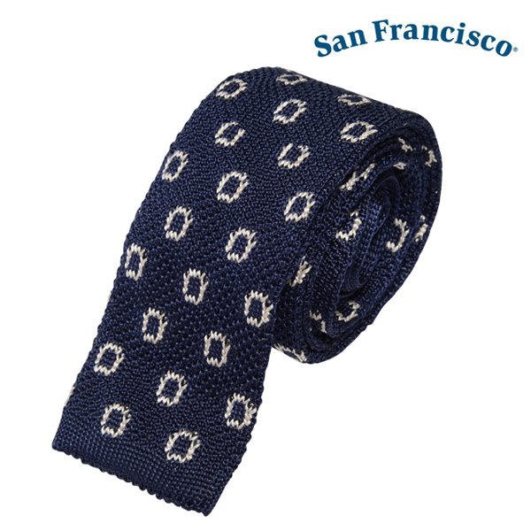 【San Francisco】Dot Silk Knit Tie (サンフランシスコ ドット シルク ニット タイ)