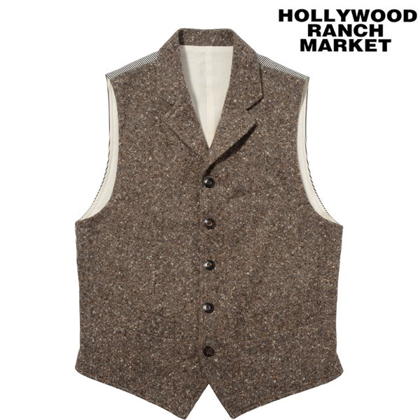 【H.R.M】Colornep Tweed Wool Lapeled ...