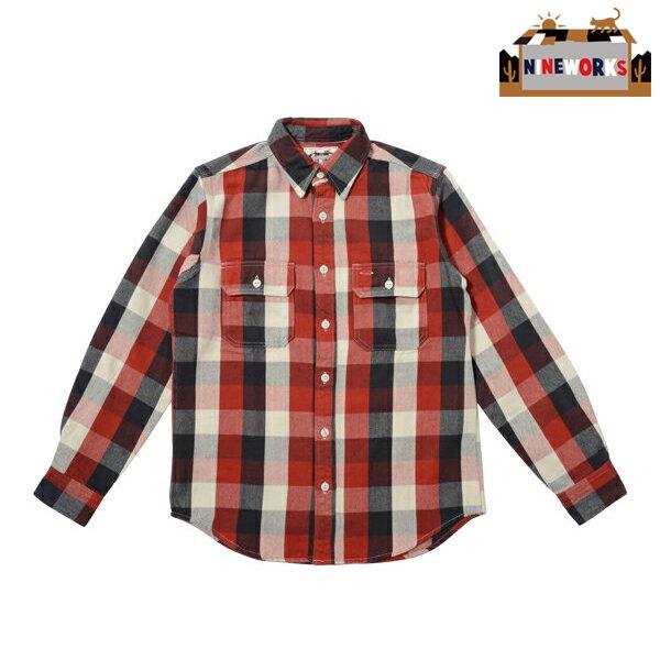 ◆SALE50%OFF◆返品及び交換不可◆【NINEWORKS】Involving Three Flannel Shirts(Red) (ナインワークス インボルビング スリー フランネル シャツ)