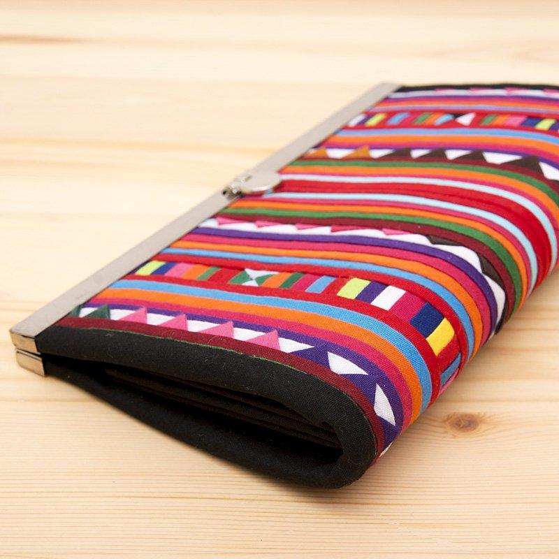 画像2:リス族 モラ刺繍長財布(カラフル)