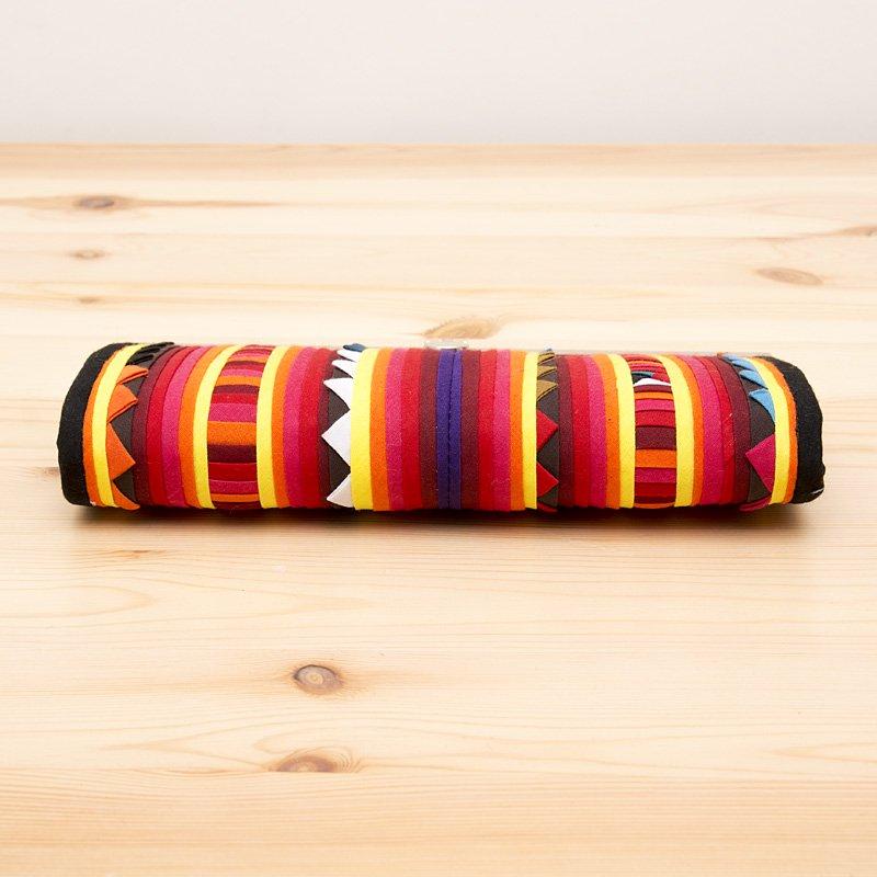 画像2:リス族 モラ刺繍ハンドメイド長財布(サバンナ)