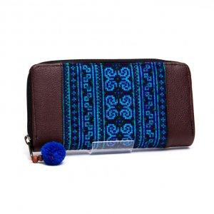 モン族 民族刺繍を使用した大人の長財布