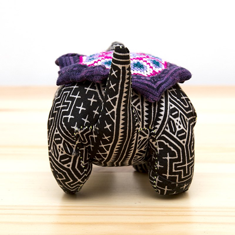 画像3:モン族刺繍のピンクッション(亀)/ろうけつ染め風/タイ雑貨