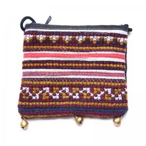 ThongPua モン族ヴィンテージ刺繍のネックポーチ Type.8