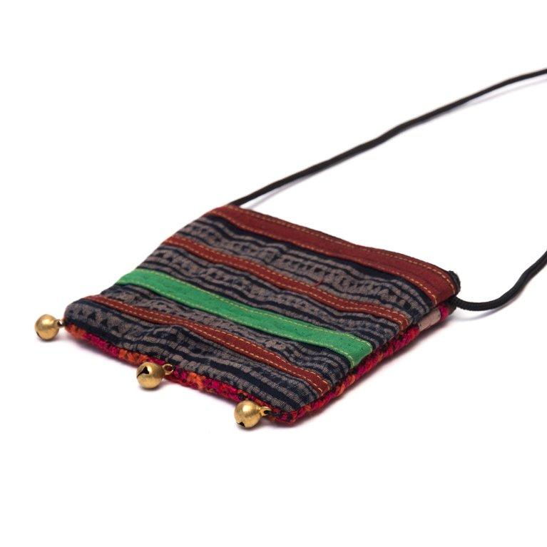 画像3:ThongPua モン族ヴィンテージ刺繍のネックポーチ Type.11