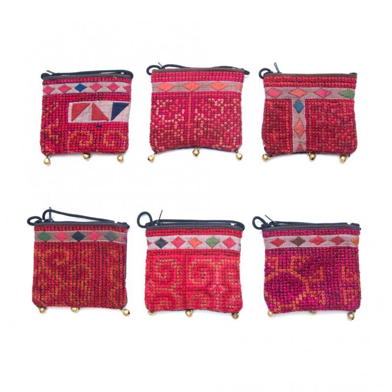 画像4:ThongPua モン族ヴィンテージ刺繍のネックポーチ Type.11