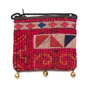 ThongPua モン族ヴィンテージ刺繍のネックポーチ Type.11
