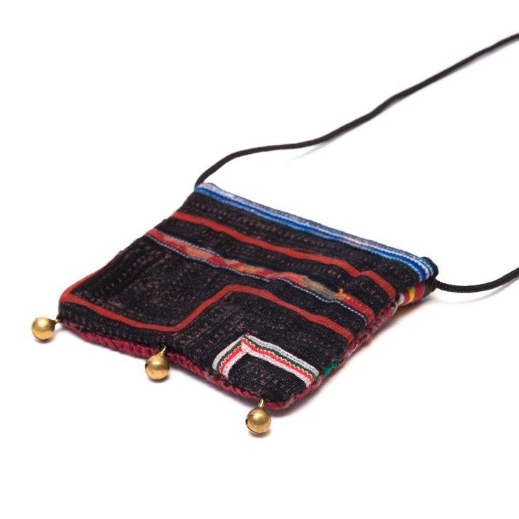 画像3:ThongPua モン族ヴィンテージ刺繍のネックポーチ Type.9