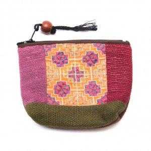 ThongPua モン族アンティーク刺繍の小物ポーチ Type.1