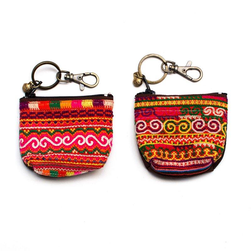 ThongPua モン族のヴィンテージ刺繍キーポーチ Type.1