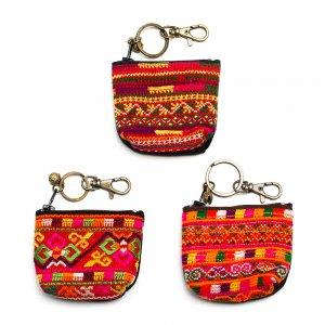 ThongPua モン族刺繍古布をリメイクしたキーポーチ