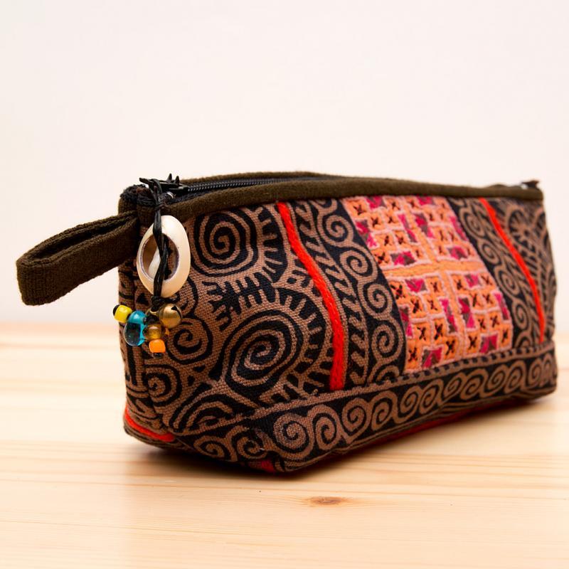 画像2:ThongPua モン族手刺繍のコスメポーチ*ペンケース