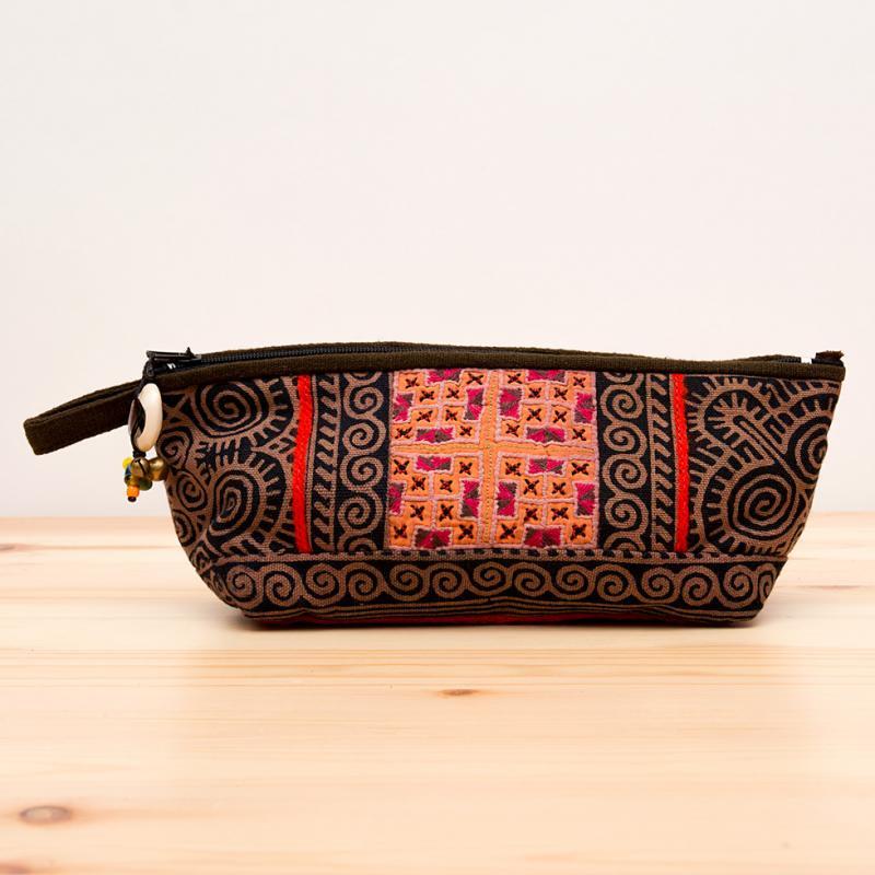 画像3:ThongPua モン族手刺繍のコスメポーチ*ペンケース