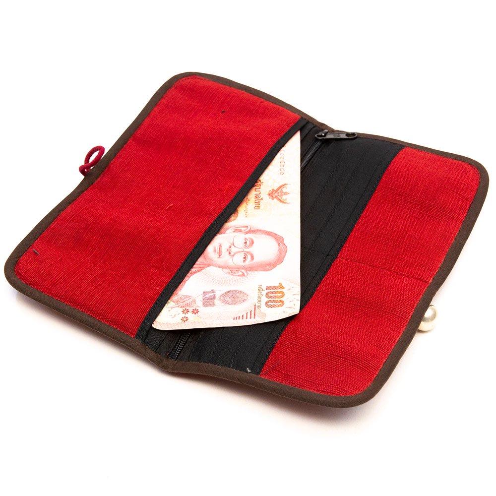 画像3:ThongPua モン族刺繍古布の長財布 Type.1(一点もの)