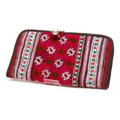ThongPua モン族刺繍古布の長財布 Type.1(一点もの)