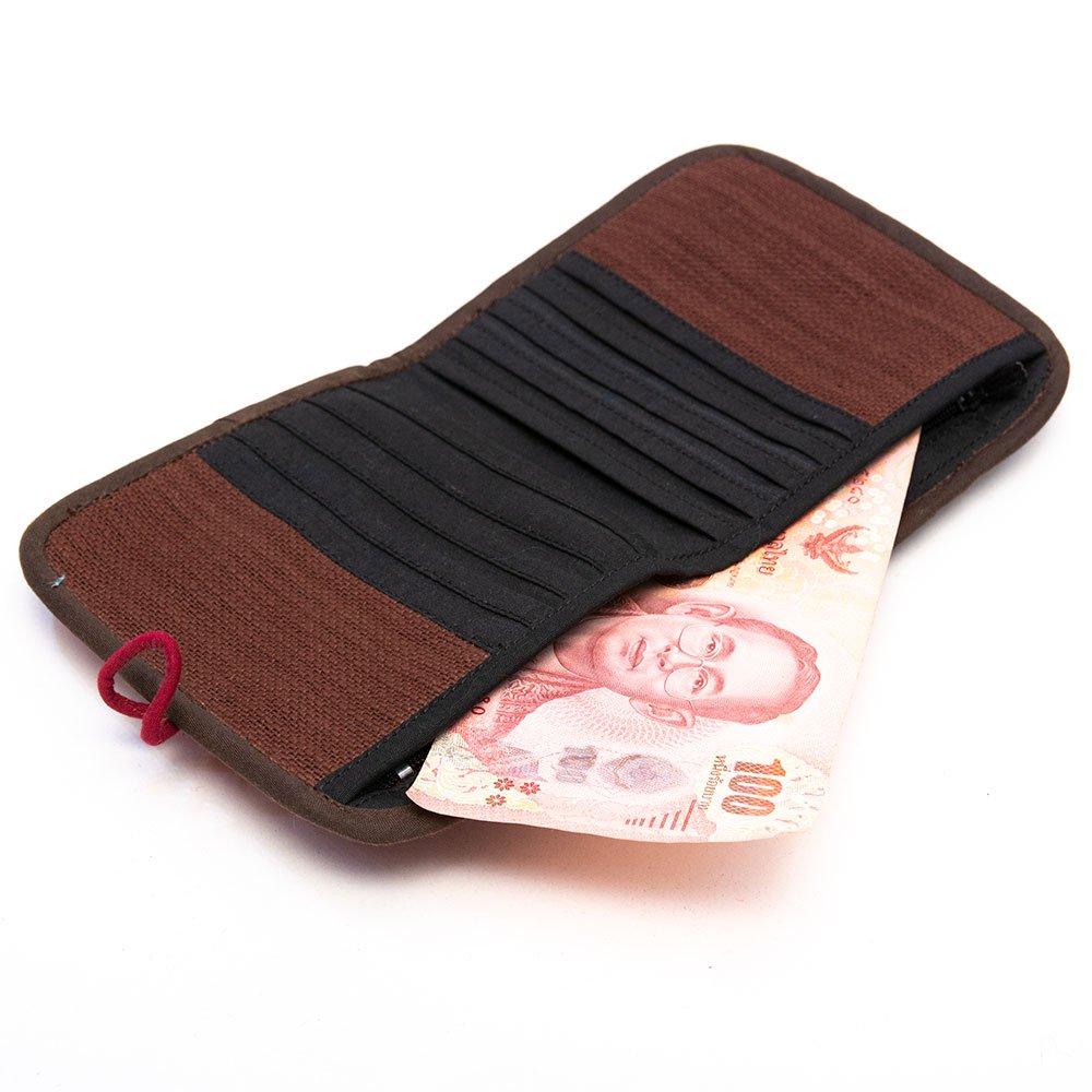 画像3:ThongPua 中国モン族(苗族) 刺繍古布の二つ折り財布(一点もの)