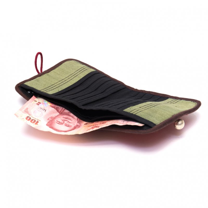 画像2:ThongPua ベトナムモン族刺繍古布の二つ折り財布 Type.1(一点もの)
