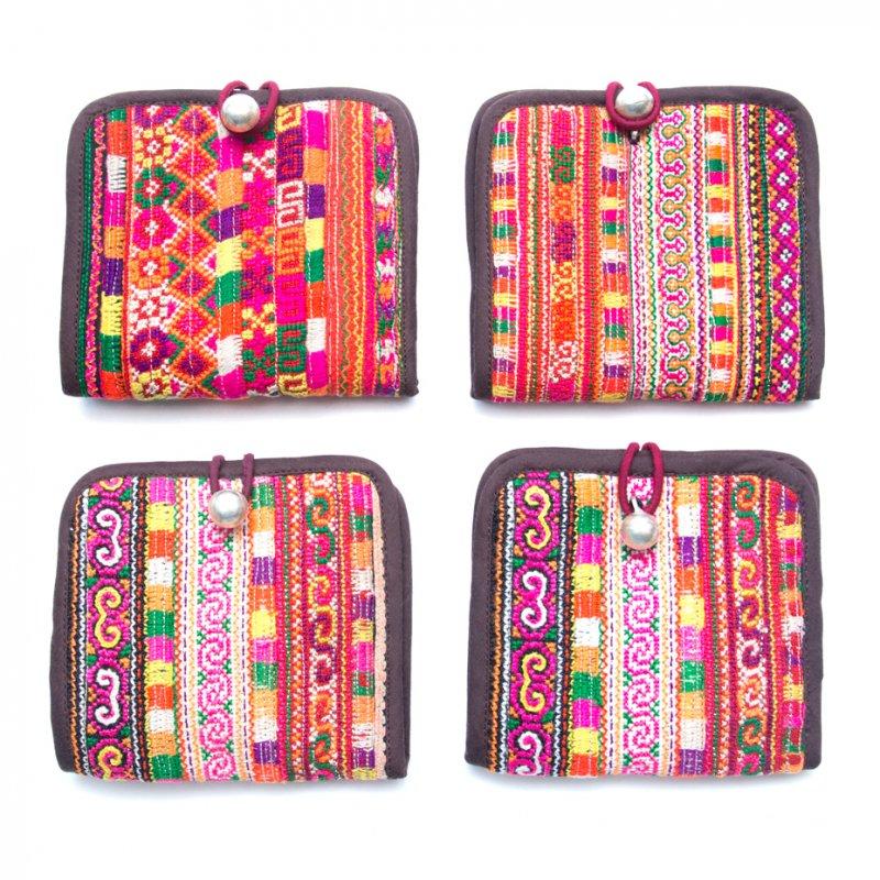 画像4:ThongPua ベトナムモン族刺繍古布の二つ折り財布 Type.1(一点もの)