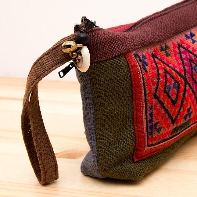 画像2:ThongPua モン族ヴィンテージ民族刺繍メイクポーチ