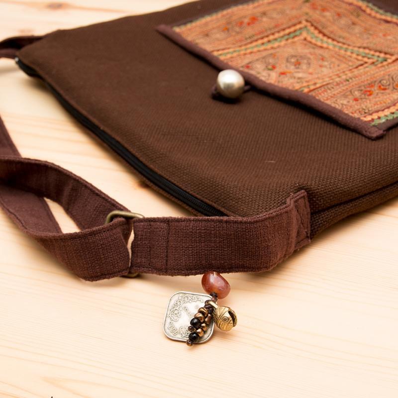画像3:ThongPua 中国モン族(苗族)刺繍のショルダーバッグ