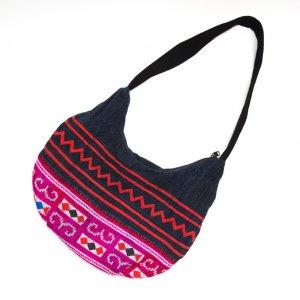 ThongPua モン族刺繍古布のムーンバッグ