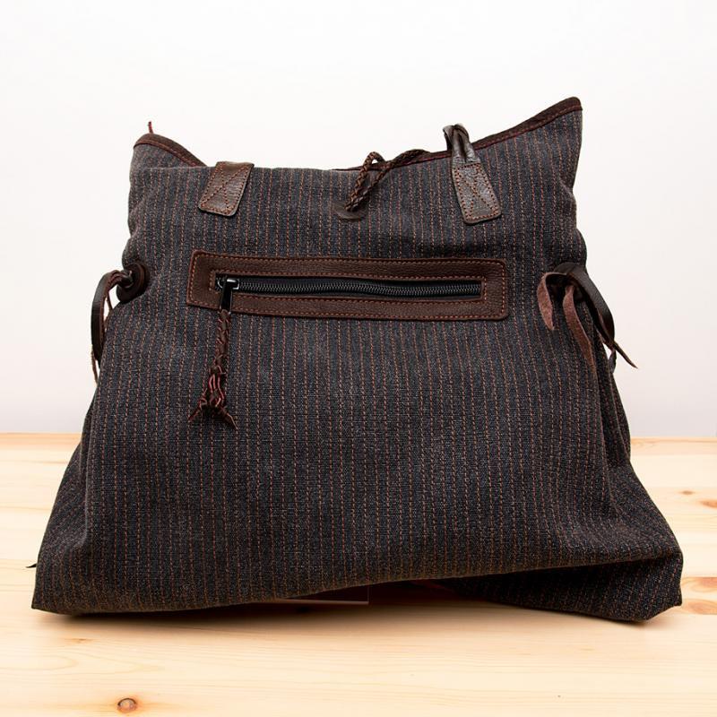 Rangmai モン族刺繍×ヘンプ(麻)ショルダーバッグ