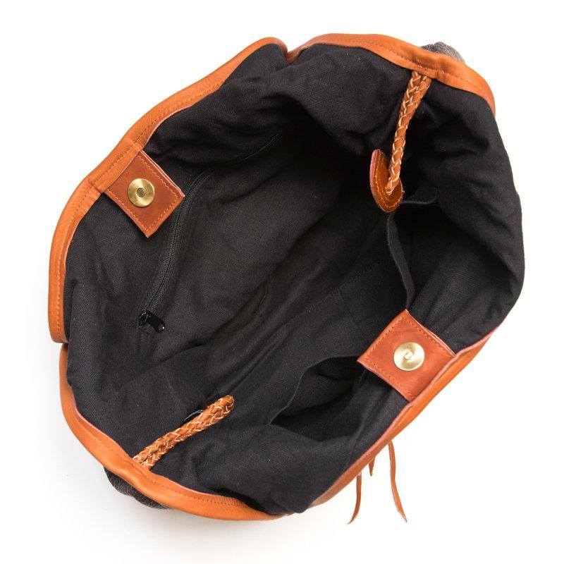 画像4:Rangmai カレン族ヴィンテージ刺繍×レザーショルダーバッグ