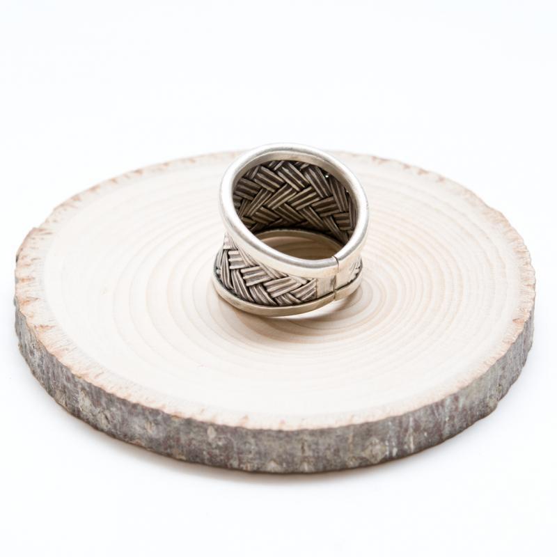 画像2:【カレン族シルバー リング】労をいとわぬ職人の技が光る指輪