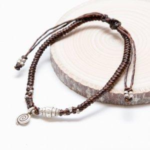 【カレン族シルバー ブレスレット】ヘッドに編み込まれた渦巻きはカレン族の象徴