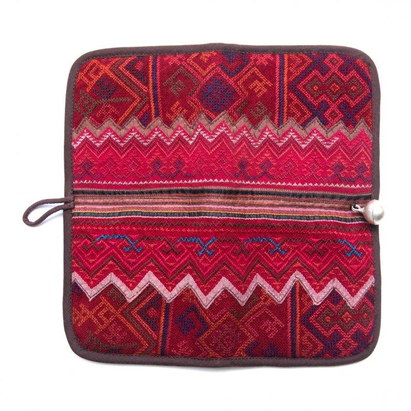 画像4:ThongPua モン族刺繍古布の長財布 Type.2(一点もの)