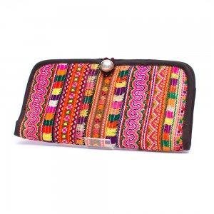 ThongPua モン族刺繍古布のロングウォレット Type.2(一点もの)