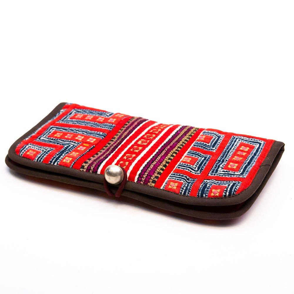 画像2:ThongPua モン族刺繍古布のロングウォレット Type.3(一点もの)