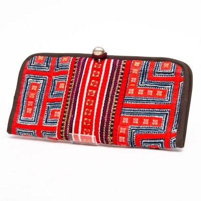 ThongPua モン族刺繍古布のロングウォレット Type.3(一点もの)