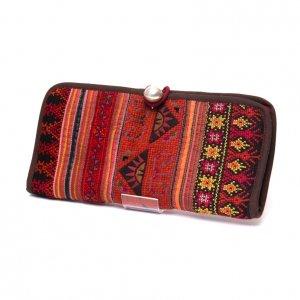 ThongPua モン族刺繍古布の長財布 Type.3(一点もの)