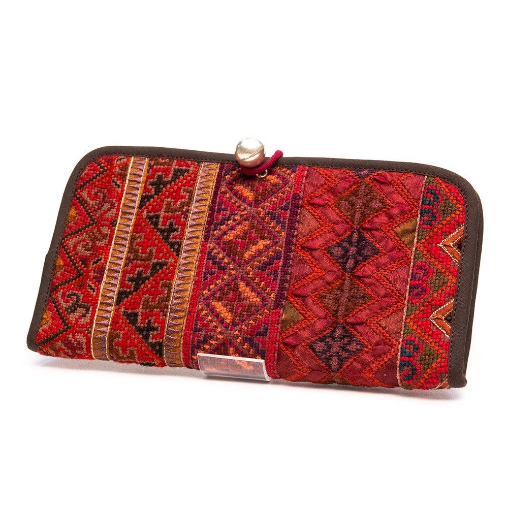 ThongPua モン族刺繍古布のロングウォレット Type.1(一点もの)