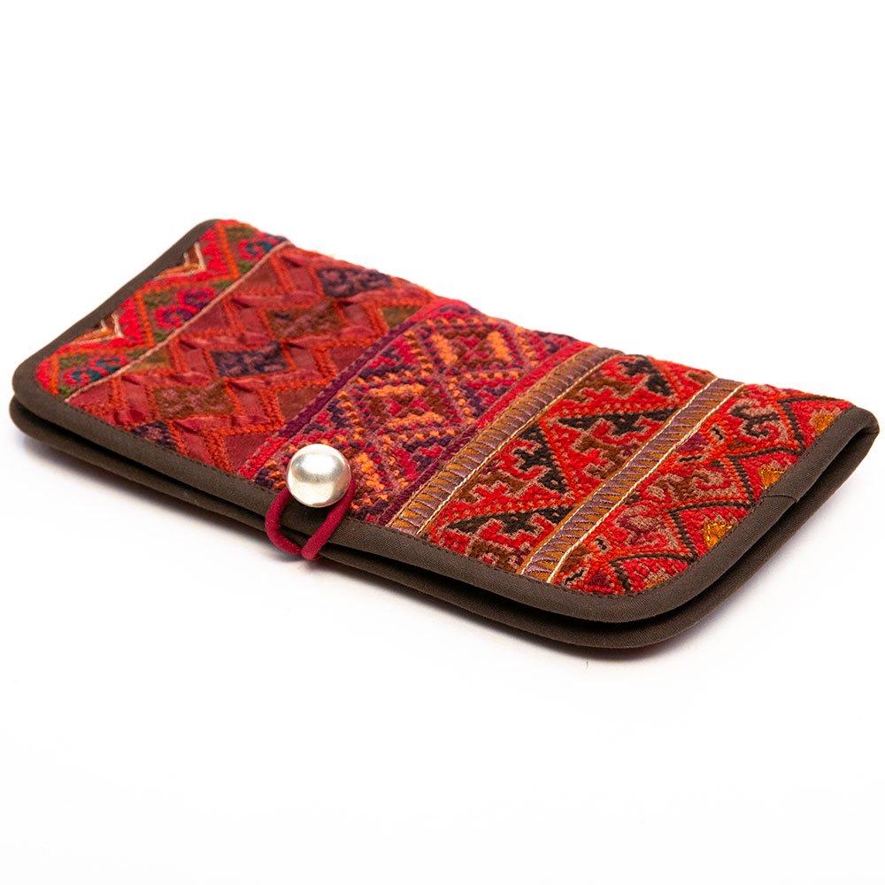 画像2:ThongPua モン族刺繍古布のロングウォレット Type.1(一点もの)