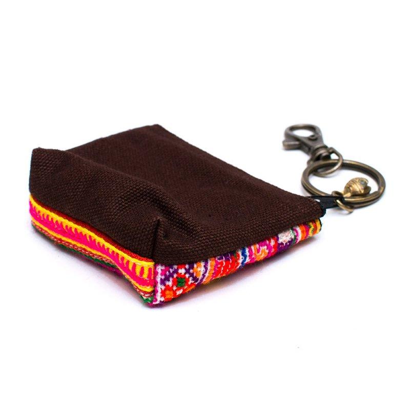 ThongPua ベトナムモン族刺繍のコインポーチ(キーホルダー)