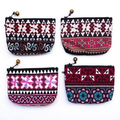 ThongPua モン族 民族刺繍のキーホルダーポーチ